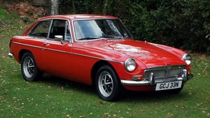 1974 MGB GT COUPE CHROME BUMPERS AND OVERDRIVE For Sale