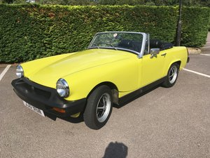 1975 MG Miidget in citron yellow . Lovely car pls see. For Sale