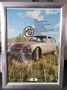 1968 Original MGC advert For Sale