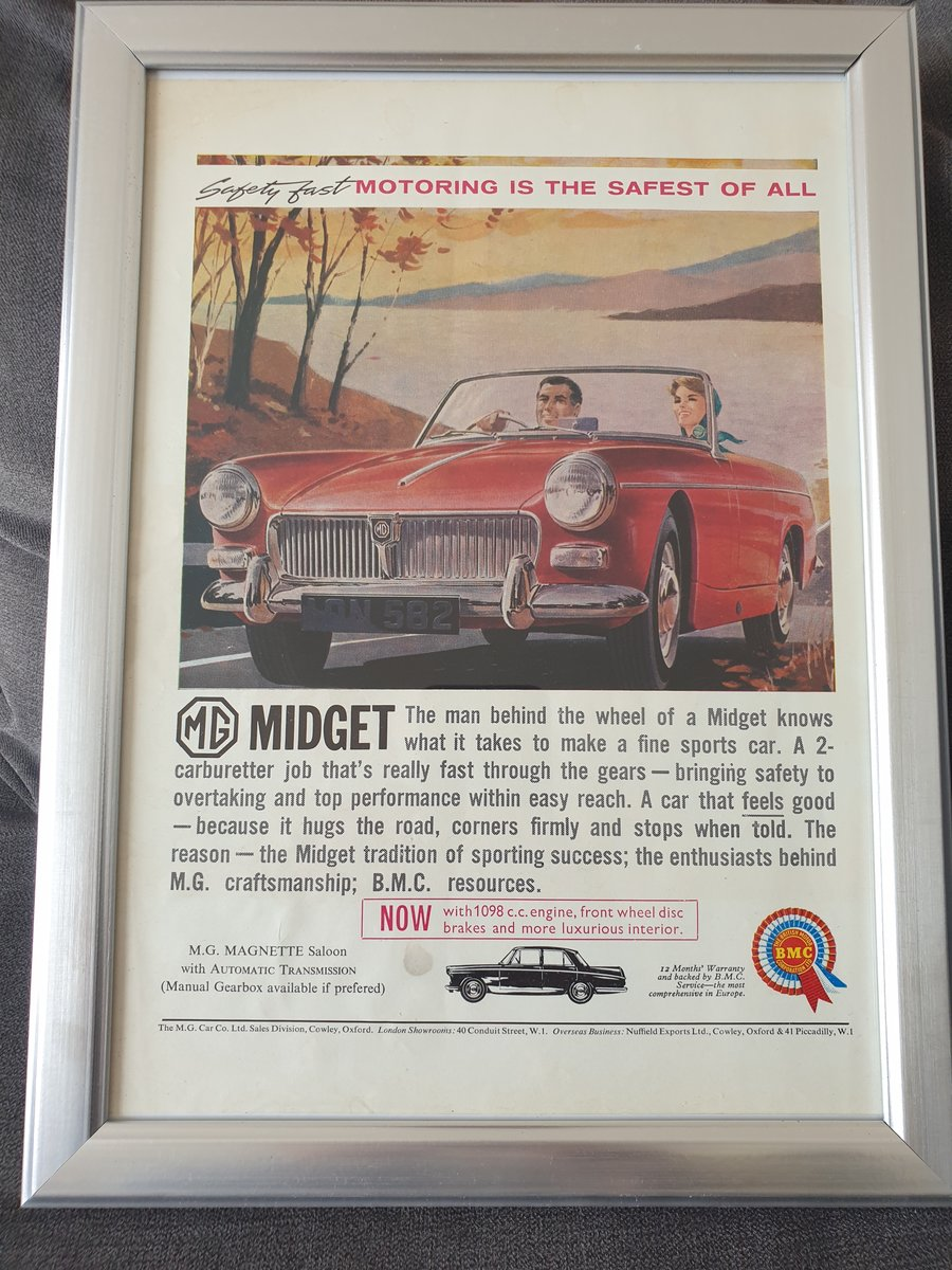 1963 Original MG Midget advert For Sale (picture 1 of 2)