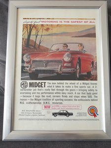 1963 Original MG Midget advert For Sale
