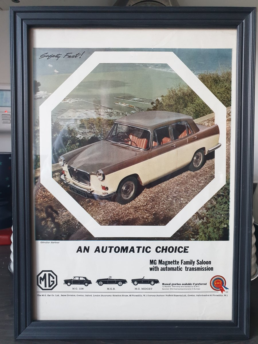 1963 Original MG Magnette Advert For Sale (picture 1 of 2)