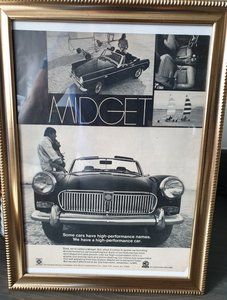 1969 US MG Midget advert Original