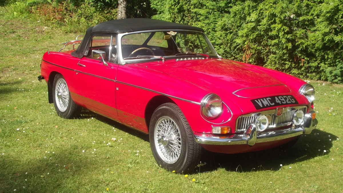 1968 MGC AUTOMATIC ROADSTER 1 0F 92 made For Sale (picture 1 of 6)