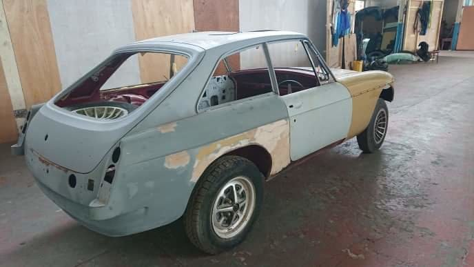 Mg b gt very very good restored rolling shell 1974 For Sale (picture 4 of 6)