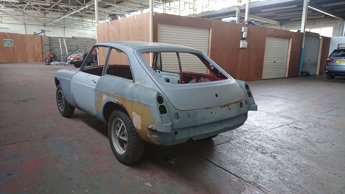 Mg b gt very very good restored rolling shell 1974 For Sale (picture 6 of 6)