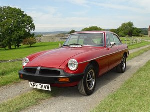 1980 Exceptional MGB GT, 77000m, Full history, sunroof, overdrive SOLD
