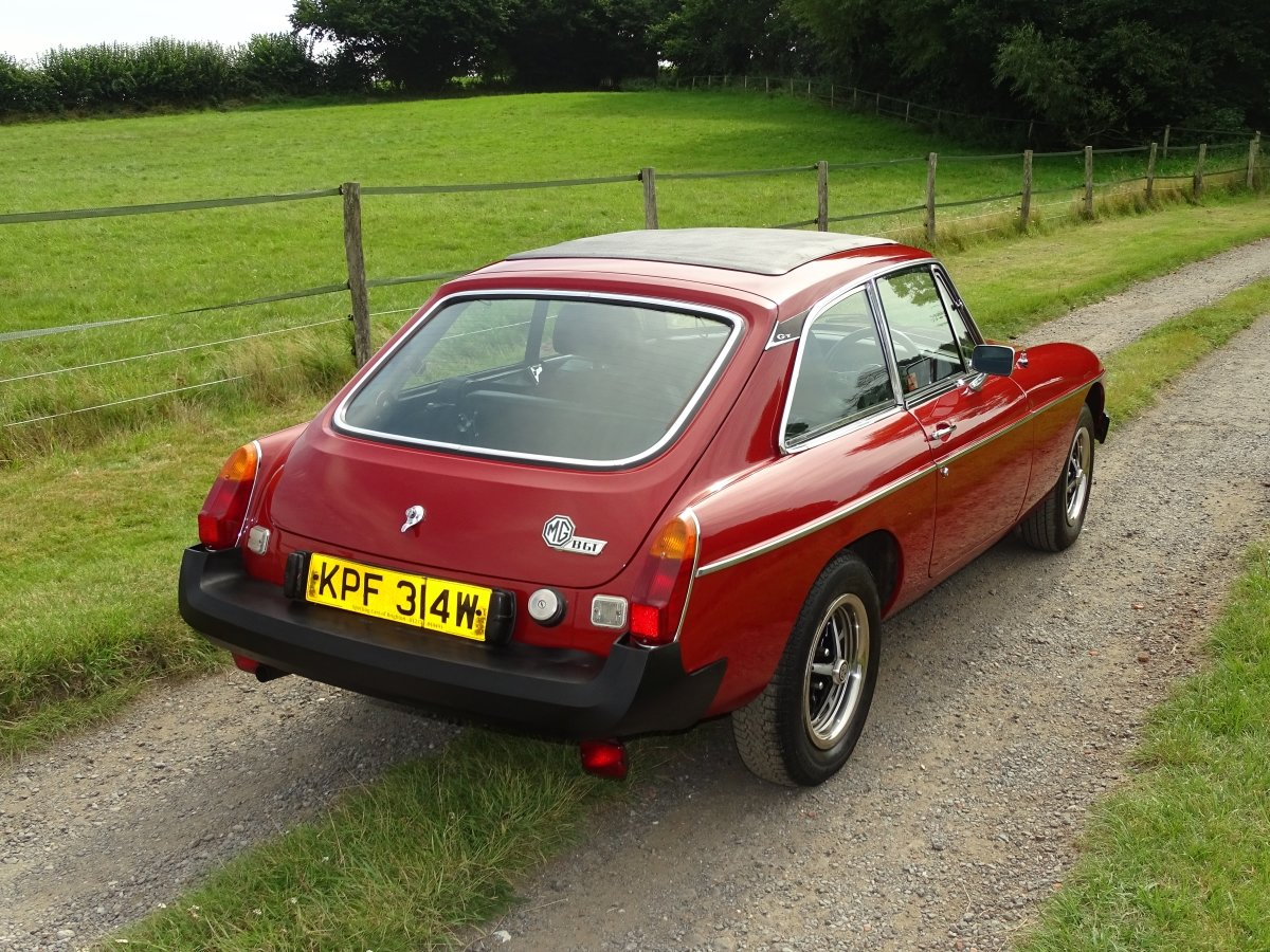 1980 Exceptional MGB GT, 77000m, Full history, sunroof, overdrive SOLD (picture 2 of 6)