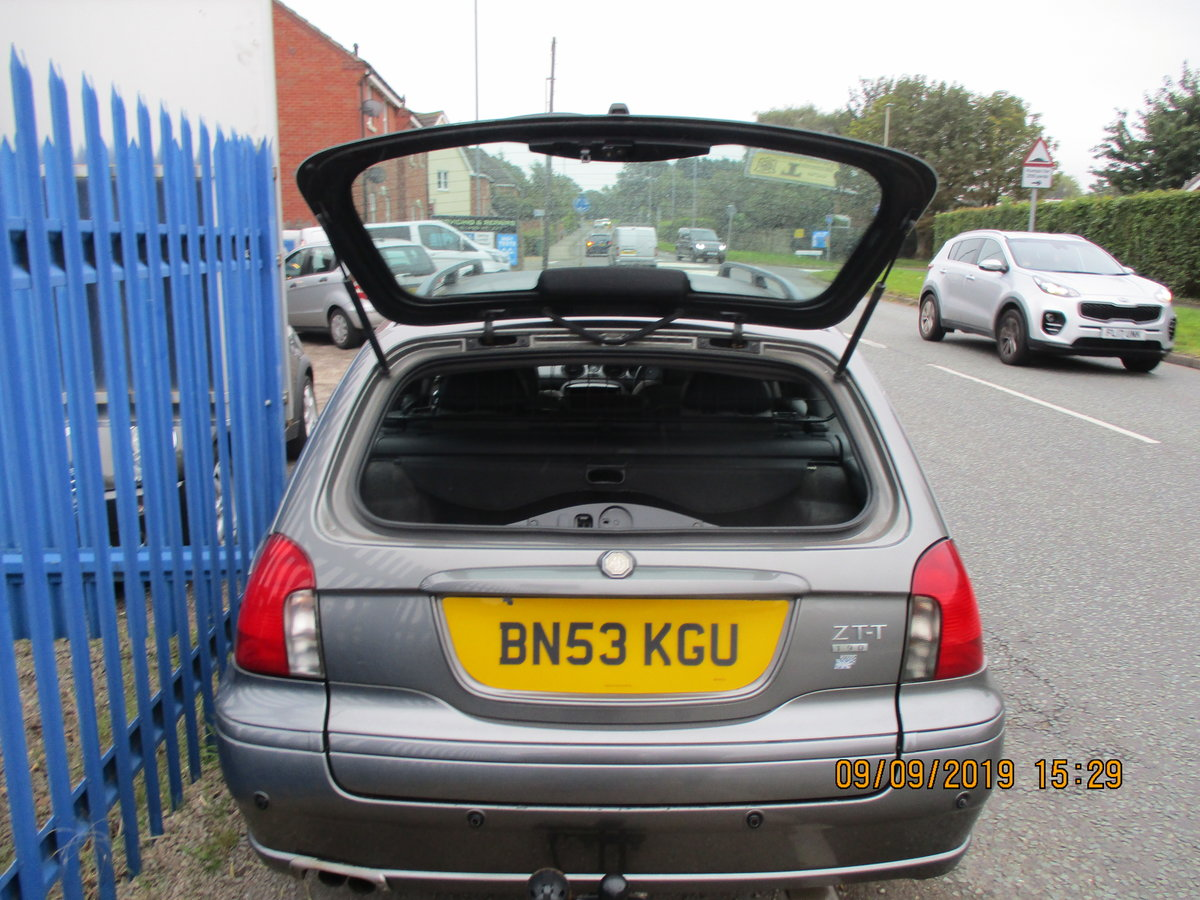 2003 MG ZTT ESTATE V/6 2.5cc MANUAL WITH A TOW BAR  NEW MOT/ CAM  For Sale (picture 5 of 6)