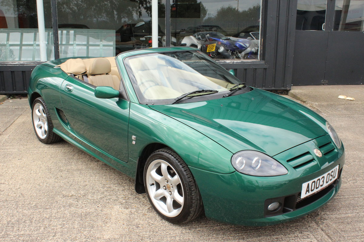 2003 MGTF,TAN INTERIOR,23000 MILES,NEW HEADGASKET,BELT&PUMP For Sale (picture 1 of 6)