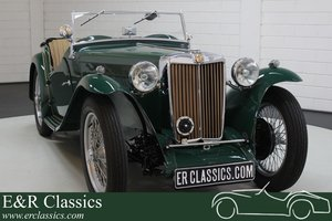 MG TC 1946 British Racing Green restored