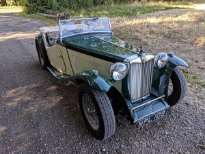 1949 MG TC Rolling Restoration Numbers Matching UK Car SOLD