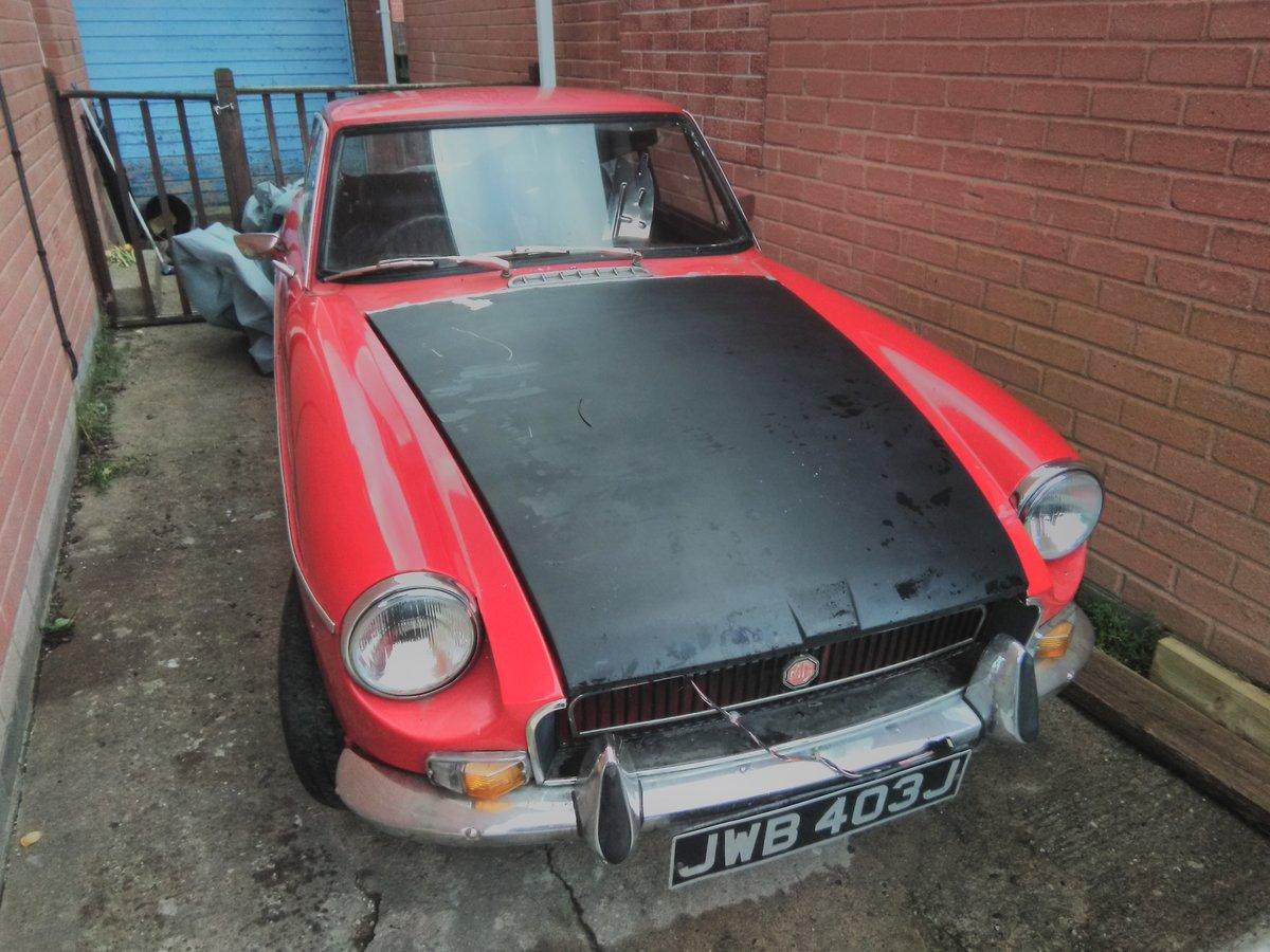 1971 MG BGT For restoration For Sale (picture 1 of 3)