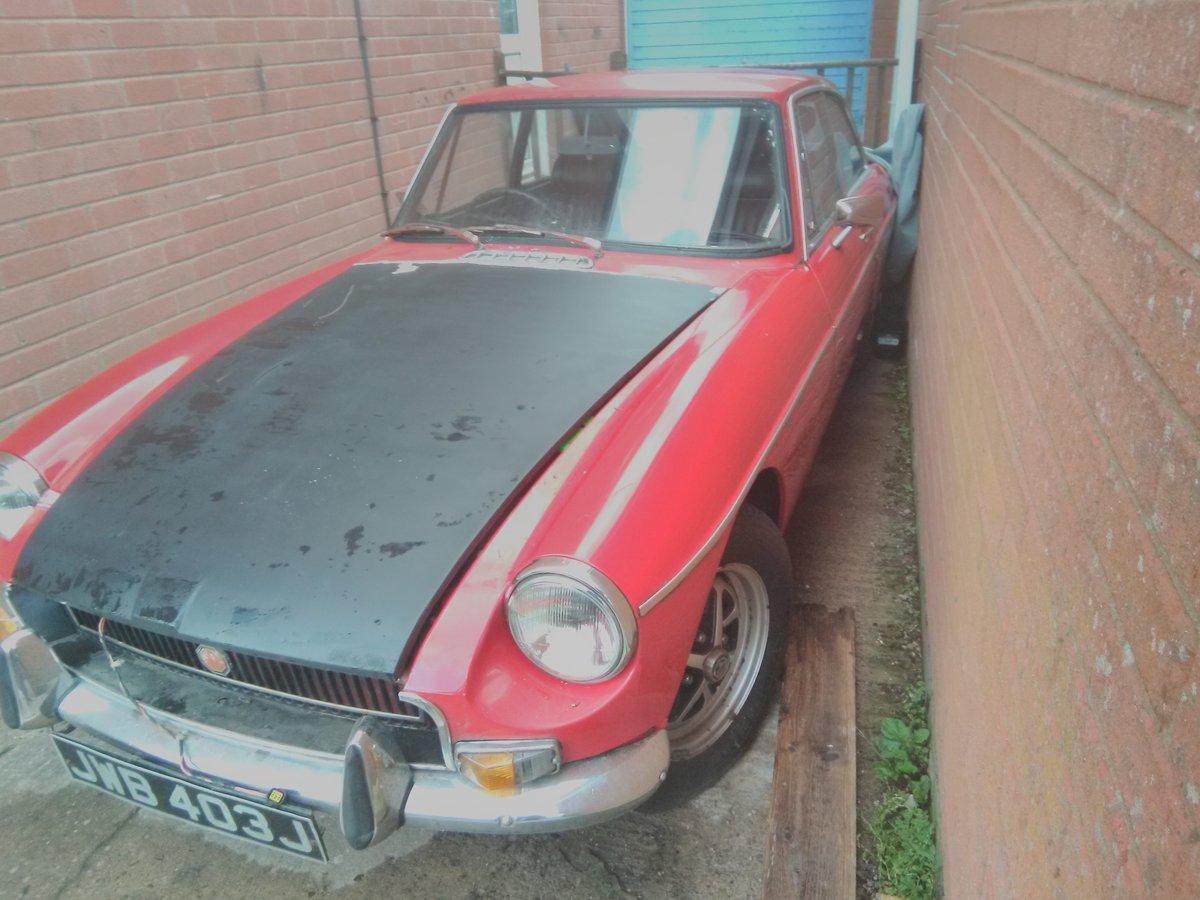1971 MG BGT For restoration For Sale (picture 2 of 3)