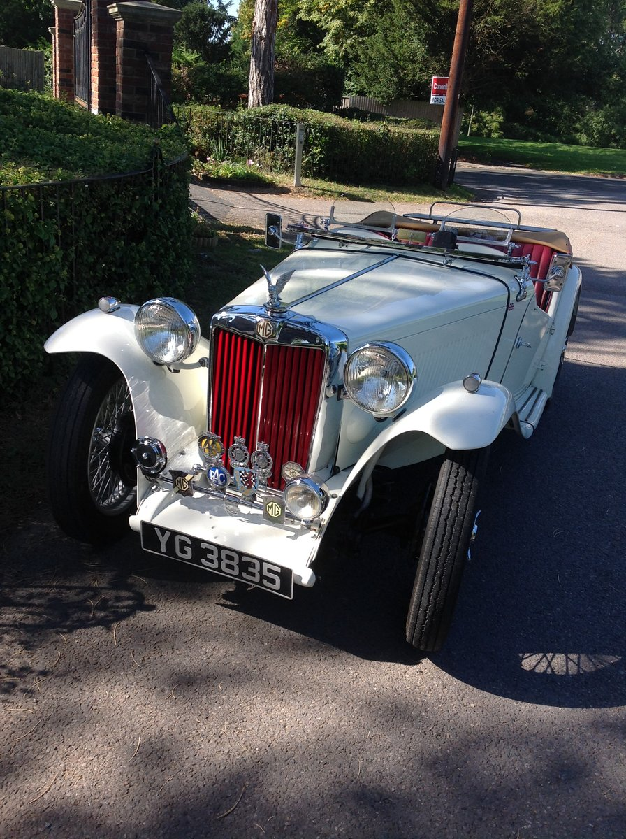 1949 MG TC Immaculate example. For Sale (picture 1 of 6)