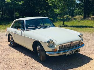 1970 MGB GT Glacier White, Low Miles