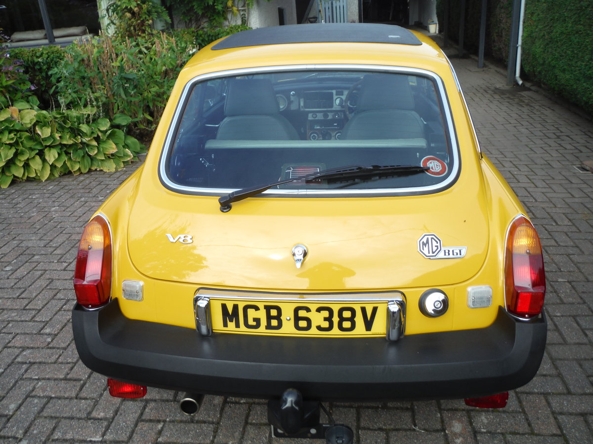 1979 MGB GT Beautiful Solid Car in Inca Yellow For Sale (picture 2 of 6)