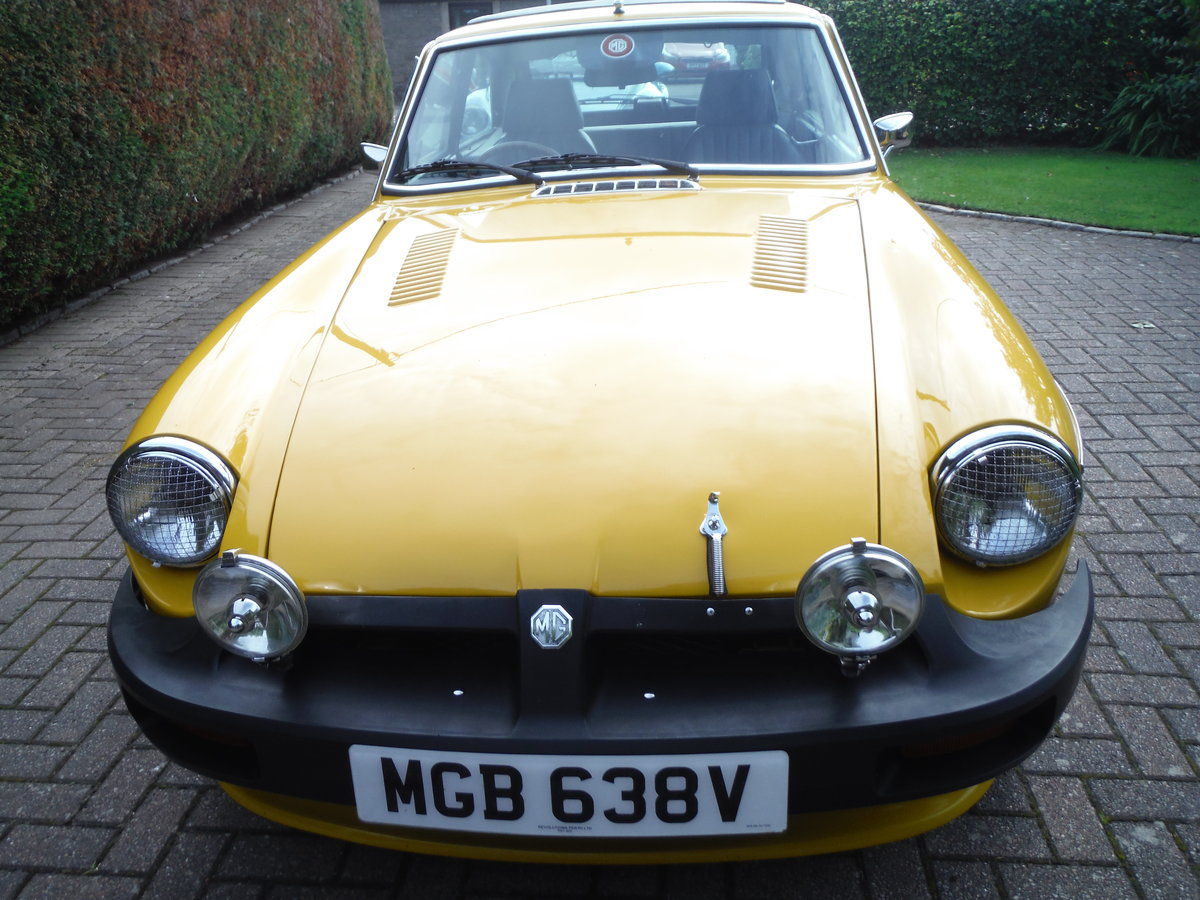 1979 MGB GT Beautiful Solid Car in Inca Yellow For Sale (picture 4 of 6)