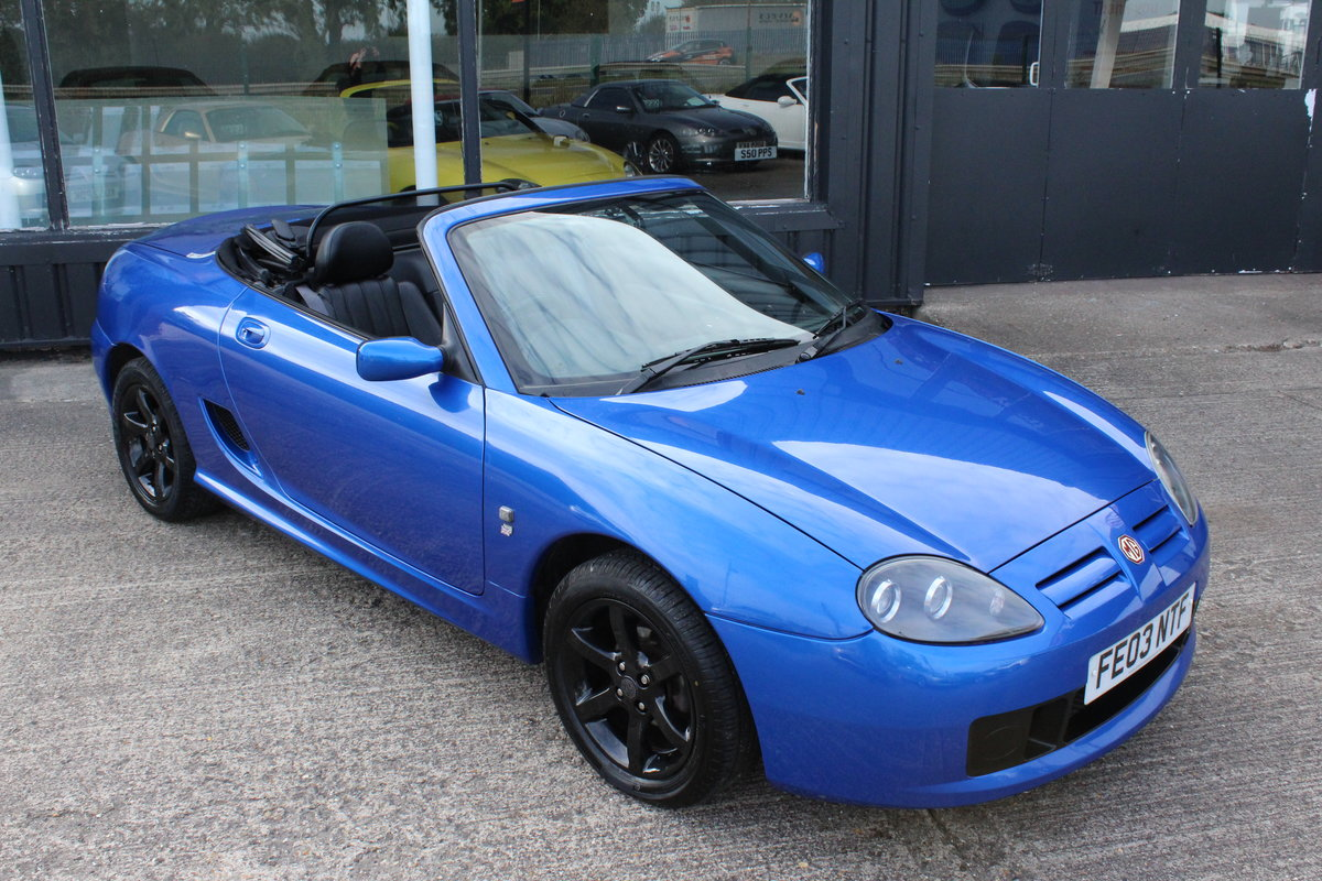 2003 MG TF 135,FULL LEATHER,GLASS WINDOW,35000 MILES For Sale (picture 1 of 6)