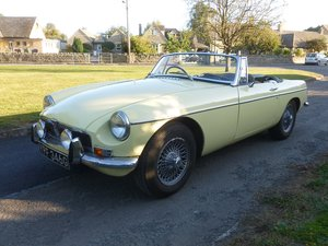 MGB Roadster 1969.  Very original.  Overdrive, Wire wheels.  For Sale