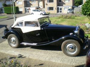 1950 MGTD RHD needs finishing.