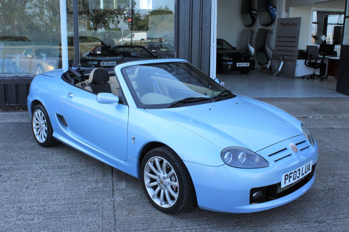 2003 MGTF 160,RARE COLOUR,TAN INTERIOR, 45000 MLS,HEADGASKET SOLD (picture 1 of 6)