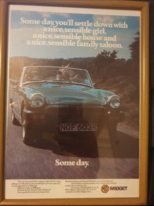 1978 Original MG Midget Advert For Sale