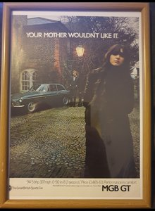 1972 MGB GT Advert Original