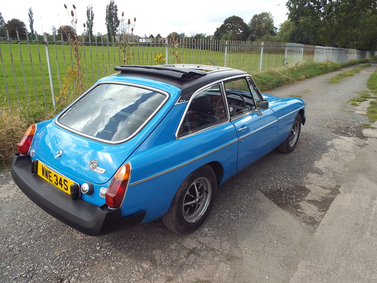 1978 MG-B GT  Pageant Blue SOLD (picture 4 of 6)