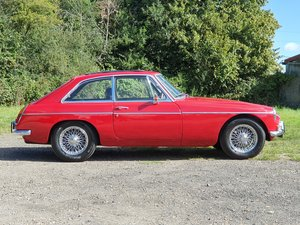 MG B GT, 1966, Red - LEFT HAND DRIVE For Sale