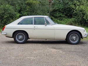 MG B GT, 1970, Old English White For Sale