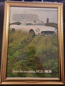 1971 MGB Framed Advert Original