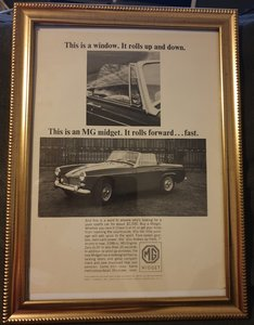 1964 MG Midget Advert Original