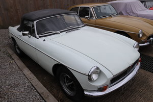 1970 MGB Roadster in Glacier white.  For Sale