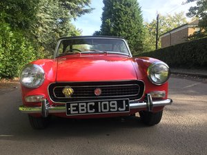 1970 MG Midget chrome bumper 1275cc