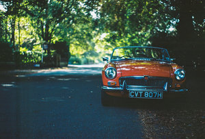 MGB Roadster Red, Chrome Bumper 1970 Overdrive For Sale