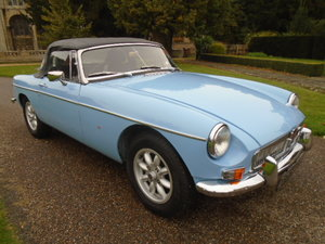1965 MGB Roadster Chrome bumper, alloys and leather. O/drive For Sale