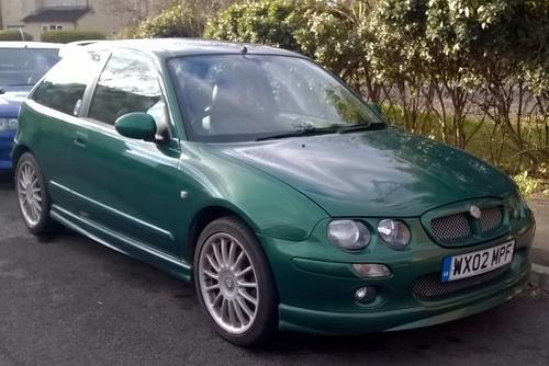 2002 MG ZR 160 VVC STANDARD SPEC  LE MANS GREEN For Sale (picture 1 of 6)