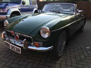 1976 Mgb roadster, a very sound solid mg For Sale