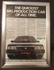 1985 Original MG Montego Turbo Advert