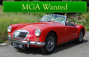 MGA WANTED, CLASSIC CARS WANTED, IMMEDIATE PAYMENT Wanted