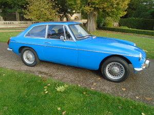 1970 MG BGT Chrome bumper model, wire wheels + webasto roof. For Sale