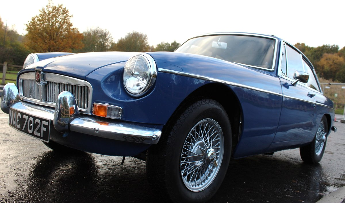 1967 MGB GT MK1 With Overdrive  , Wire Wheels  Webasto Roof SOLD (picture 2 of 6)