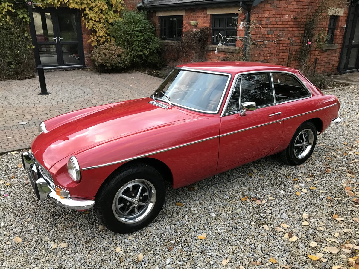 1972 MG B GT  Chrome Bumpers, Overdrive For Sale (picture 1 of 6)