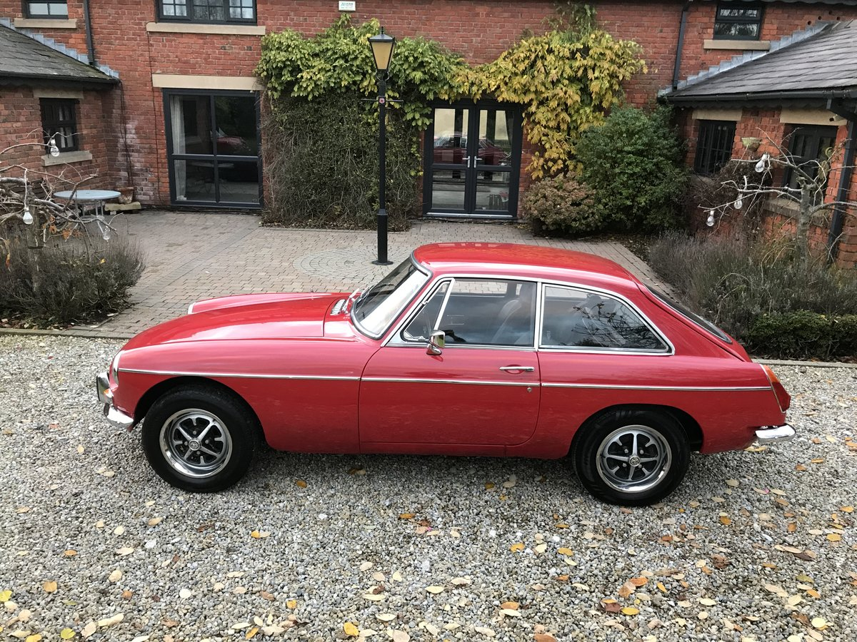 1972 MG B GT  Chrome Bumpers, Overdrive For Sale (picture 3 of 6)