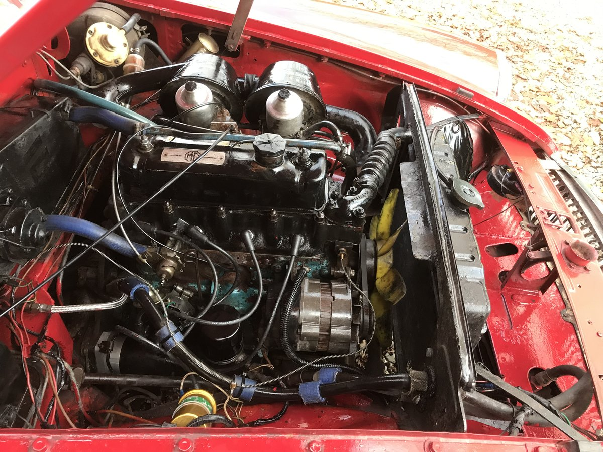 1972 MG B GT  Chrome Bumpers, Overdrive For Sale (picture 5 of 6)