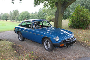 MGBGT V8 1975 Genuine Factory Car Teal Blue, Black Leather For Sale