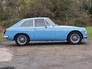 MG B GT, 1969, Iris Blue For Sale