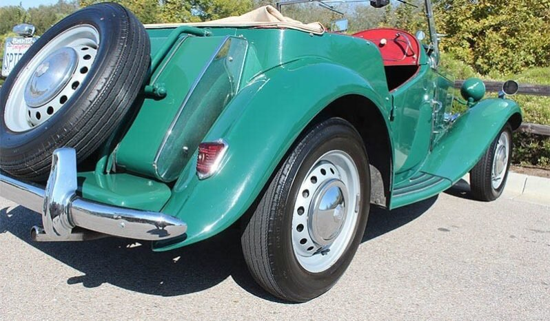 1952 MG T-Series TD Roadster Convertible LHD Green $15.9k For Sale (picture 3 of 6)