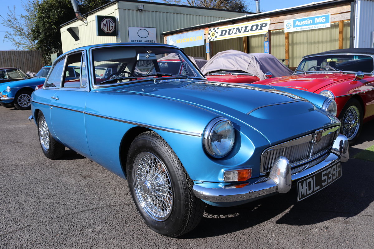 1968 MGC GT,Riviera Silver Blue, Bare metal respray 2018 For Sale (picture 1 of 5)